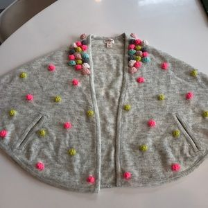 NWT Cat & Jack Poncho Cardigan Girls S/M